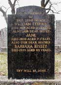 The grave of Wm Stephen