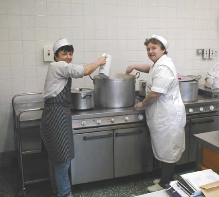 The cooks- Wilma Grant and Brenda MacDonald