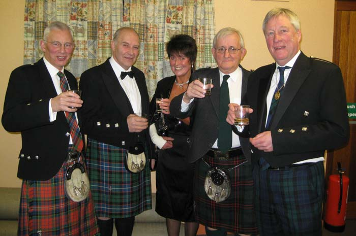 Kennethmont Burns Supper speakers 2011